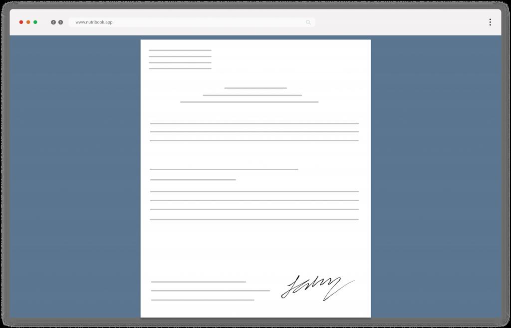 documenti e firma biometrica Nutribook